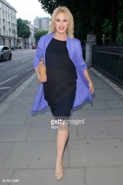 Joanna Lumley sighting at the Natural History museum on July 13 2017 in London England