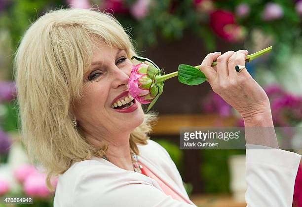 Joanna Lumley visiting the annual Chelsea Flower show at Royal Hospital Chelsea on May 18, 2015 in London, England.