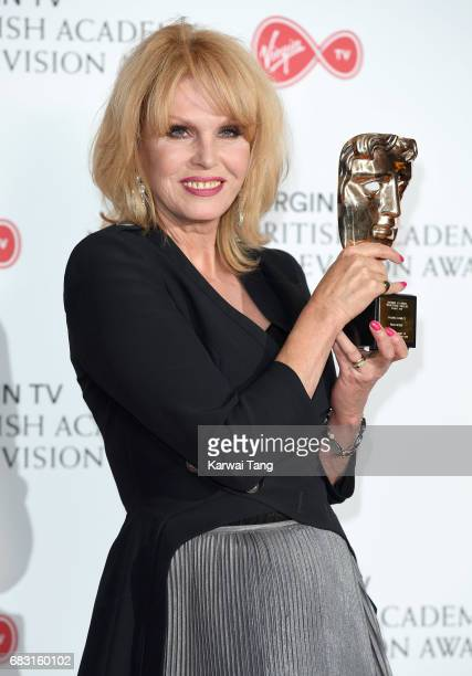 Joanna Lumley winner of the BAFTA Fellowship Award poses in the Winner's room at the Virgin TV BAFTA Television Awards at The Royal Festival Hall on...