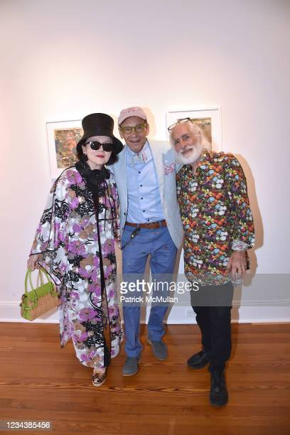 """Joanna Mastroianni, Bruce Helander and Gideon Lewin attend the release of Christophe von Hohenberg's new book """"The White Album of The Hamptons"""" and..."""