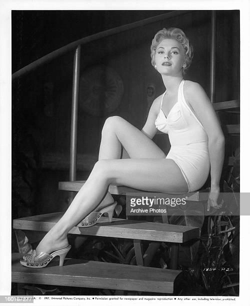 Joanna Moore publicity portrait for the film 'Slim Carter' 1957