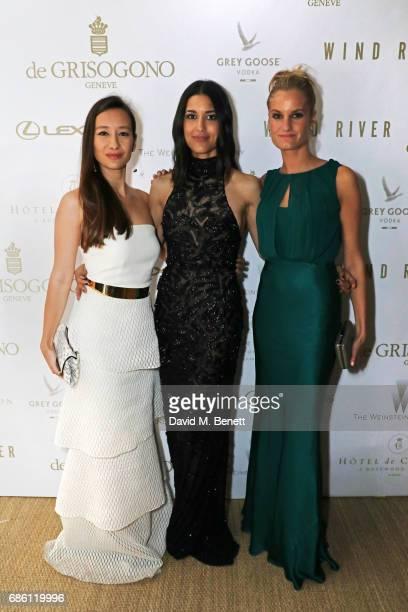 Joanna Natasegara Julia Jones and Alexandria Jackson attend The Weinstein Company party in celebration of Wind River in association with de Grisogono...