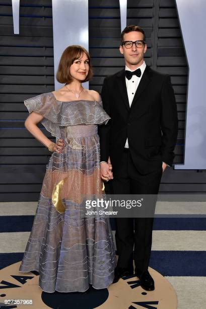 Joanna Newsom and actor Andy Samberg attend the 2018 Vanity Fair Oscar Party hosted by Radhika Jones at Wallis Annenberg Center for the Performing...