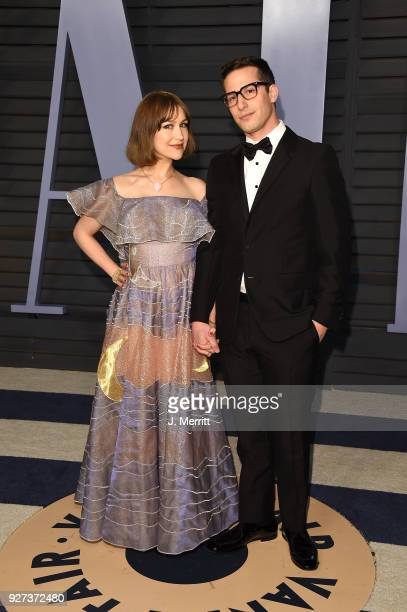 Joanna Newsom and actor Andy Samberg attend the 2018 Vanity Fair Oscar Party hosted by Radhika Jones at the Wallis Annenberg Center for the...