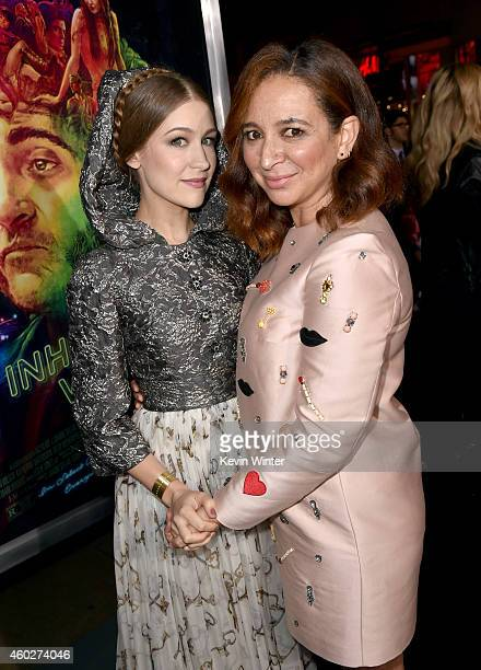 Joanna Newsom and actress Maya Rudolph attend the premiere of Warner Bros Pictures' 'Inherent Vice' at TCL Chinese Theatre on December 10 2014 in...