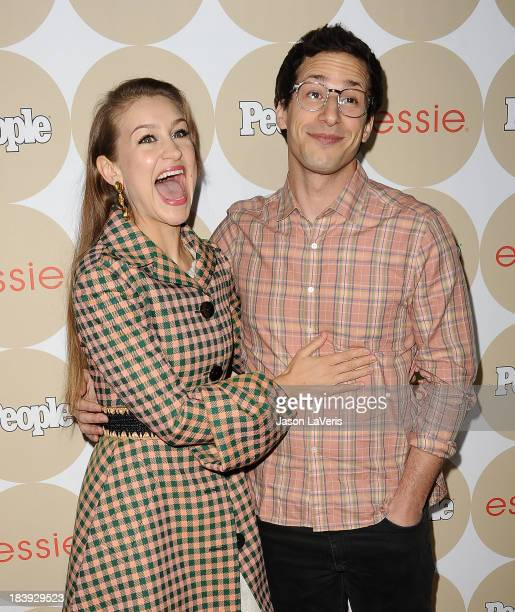 Joanna Newsom and Andy Samberg attend People's Ones To Watch party at Hinoki the Bird on October 9 2013 in Los Angeles California