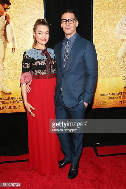 Joanna Newsom and Andy Samberg attend Popstar Never Stop Never Stopping New York Premiere at AMC Loews Lincoln Square 13 theater on May 24 2016 in...