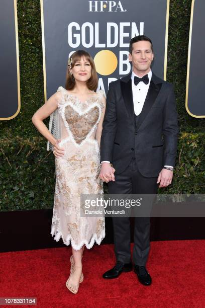 Joanna Newsom and Andy Samberg attend the 76th Annual Golden Globe Awards at The Beverly Hilton Hotel on January 6 2019 in Beverly Hills California