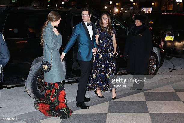 Joanna Newsom and Andy Samberg attend the Saturday Night Live 40th Anniversary Celebration After Party at The Plaza Hotel on February 15 2015 in New...