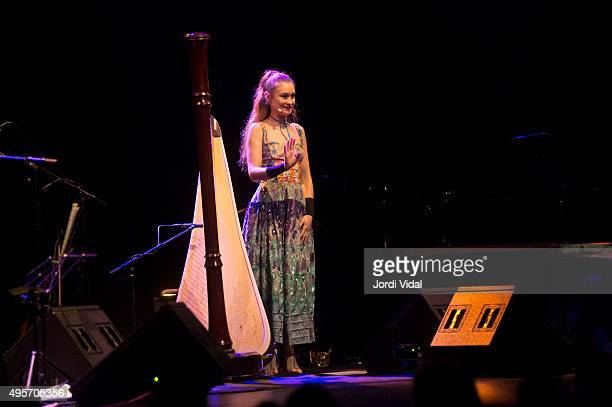 Joanna Newsom performs on stage at Barts on November 4 2015 in Barcelona Spain
