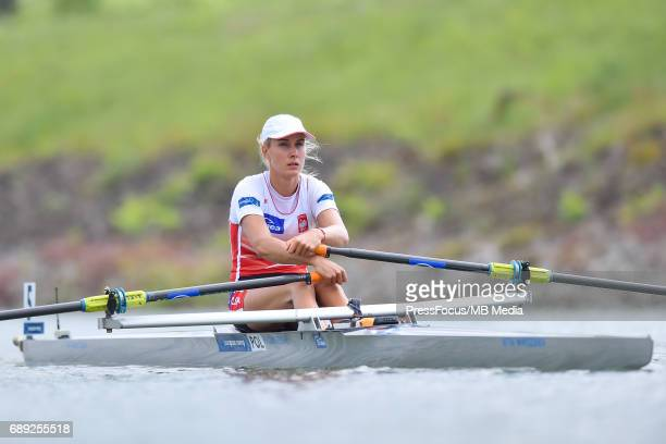 Joanna of Poland compete in the Lightweight Women's Single Sculls during the 2017 European Rowing Championships on May 26 2017 in Racine Czech...