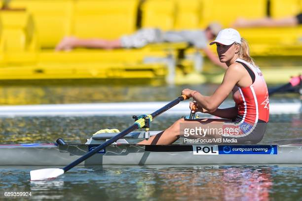 Joanna of Poland compete in the Lightweight Women's Single Sculls during the 2017 European Rowing Championships on May 27 2017 in Racine Czech...