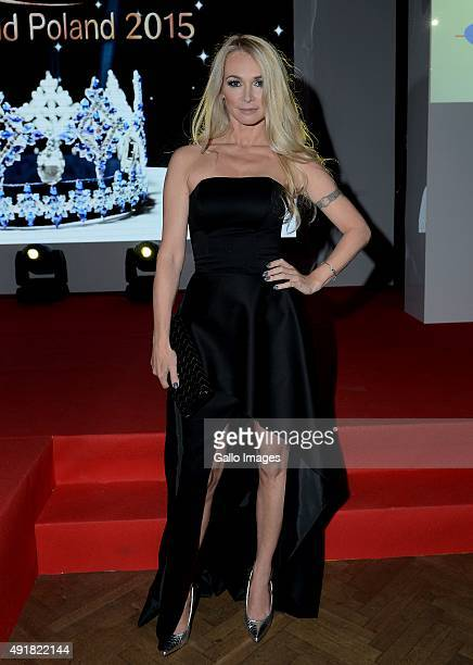 Joanna Pacula attends the finale of the Miss World Poland pageant on October 5 2015 in Endorfina Club in Warsaw Poland The winner will represent...