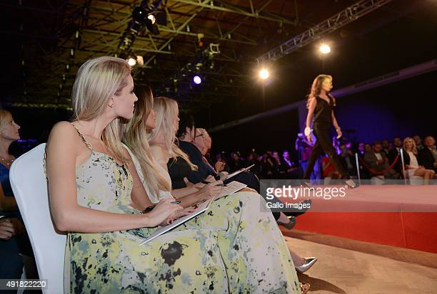 Joanna Pacula Natalia Siwiec and Anna Tarnowska attend the finale of the Miss World Poland pageant on October 5 2015 in Endorfina Club in Warsaw...