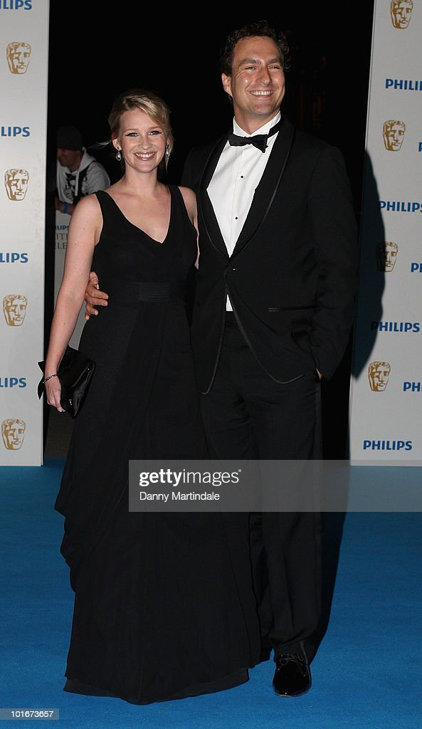 Joanna Page and James Thornton (R) attend the after party for the Philips British Academy Television awards (BAFTA) at Natural History Museum on June 6, 2010 in London, England.