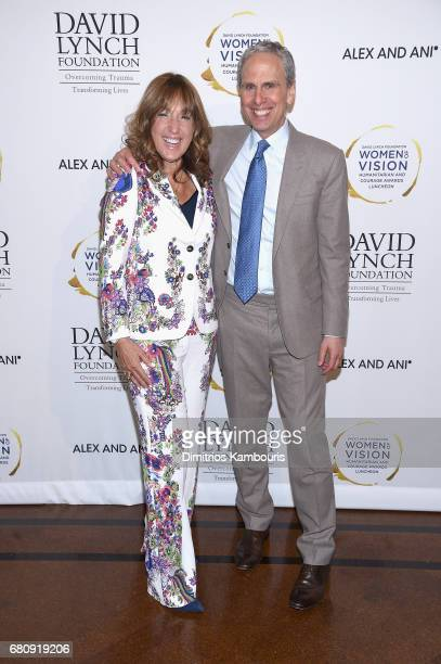 "Joanna Plafsky and CEO of the David Lynch Foundation Bob Roth attend David Lynch Foundation Hosts ""Women of Vision Awards"" at 583 Park Avenue on May..."