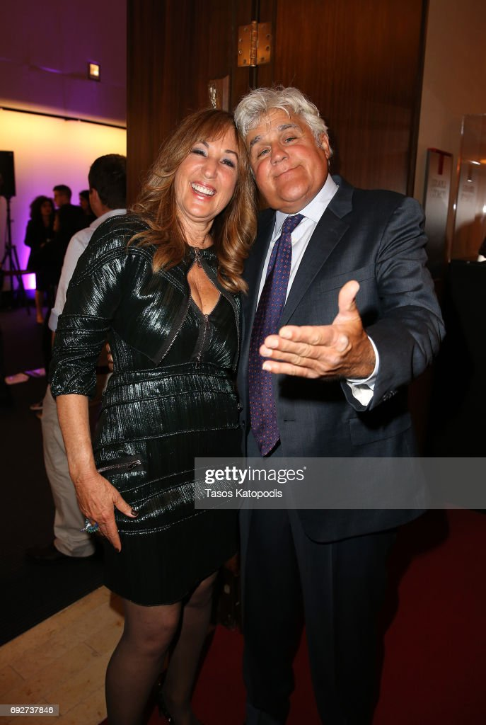 Joanna Plafsky (L) and Jay Leno attend the National Night Of Laughter And Song event hosted by David Lynch Foundation at the John F. Kennedy Center for the Performing Arts on June 5, 2017 in Washington, DC.