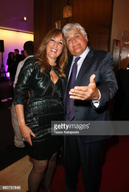Joanna Plafsky and Jay Leno attend the National Night Of Laughter And Song event hosted by David Lynch Foundation at the John F Kennedy Center for...