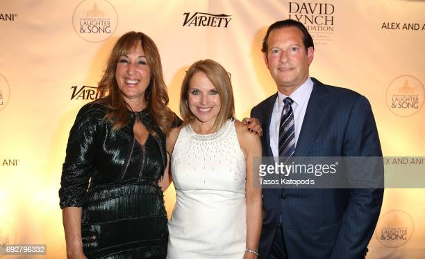 Joanna Plafsky Katie Couric and Mark Axelowitz attend the National Night Of Laughter And Song event hosted by David Lynch Foundation at the John F...