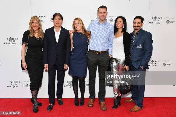 Joanna Plafsky Stephen Mao Linda Knoll Kevin Savko Meriam Alrashid and Shaun Greenspan attend the Driveways screening during the 2019 Tribeca Film...