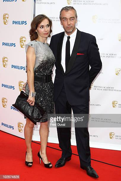 Joanna Roth and John Hannah attend the Philips British Academy Television awards at London Palladium on June 6 2010 in London England