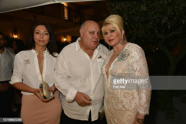 Joanna Saurat Alfredo Galullo and Ivana Trump attend the Massimo Birthday Party On French Riviera on August 19 2018 in SaintTropez France