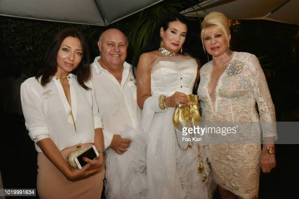 Joanna Saurat Alfredo Galullo Lamia Khashoggi and Ivana TrumpÊattend the Massimo Birthday Party On French Riviera on August 19 2018 in SaintTropez...