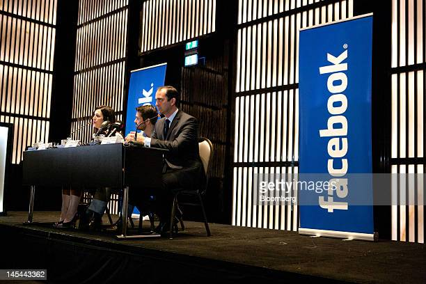 Joanna Shields vice president and managing director of Europe Middle East and Africa of Facebook Inc left Jonathan Labin head of global marketing...