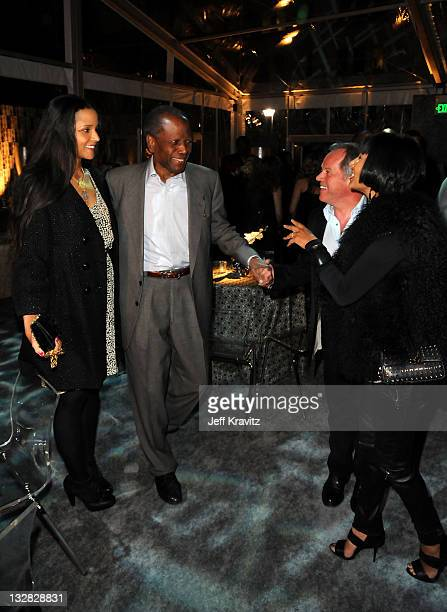 """Joanna Shimkus, actor Sidney Poitier, chef Wolfgang Puck and Gelila Assefa attend Los Angeles premiere of HBO's """"His Way"""" after party at Paramount..."""