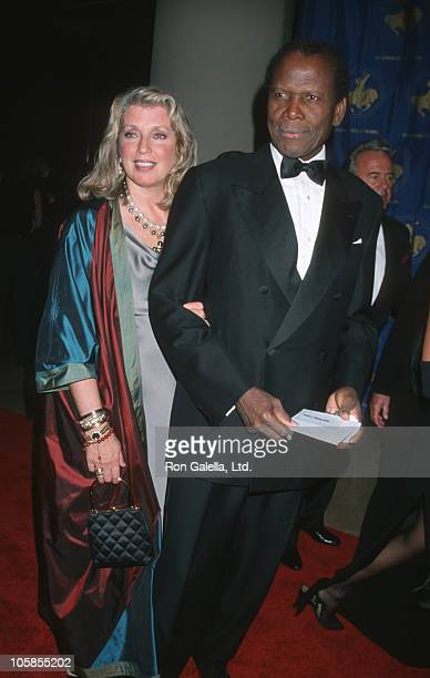 Joanna Shimkus and Sidney Poitier during 13th Annual Carousel of Hope Ball Benefiting Childrens Diabetes at Beverly Hilton Hotel in Beverly Hills...
