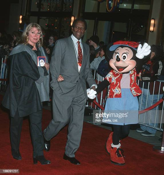 Joanna Shimkus and Sidney Poitier during Grand Opening Celebration for Disney's California Adventure at Disneyland Resort in Anaheim, California,...
