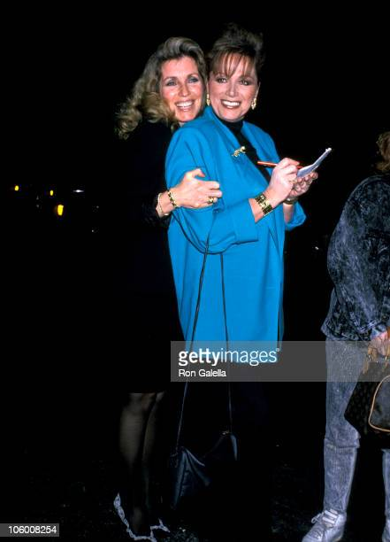 Joanna Shimkus Poitier and Jackie Collins during Jackie Collins at Spago in Hollywood January 13 1989 at Spago in Hollywood California United States