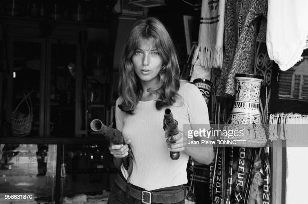 Joanna Shimkus sur le tournage du film 'Les Aventuriers' réalisé par Robert Enrico en 1966 France