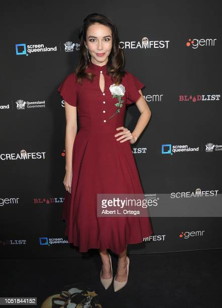 Joanna Sotomora arrives for the Screamfest LA Opening Night Screening Of 'The Amityville Murders' at TCL Chinese 6 Theatres on October 9 2018 in...