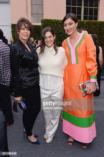 Joanna Staudinger Aileen Getty and Sarah Staudinger attend the MOCA Gala 2016 at The Geffen Contemporary at MOCA on May 14 2016 in Los Angeles...