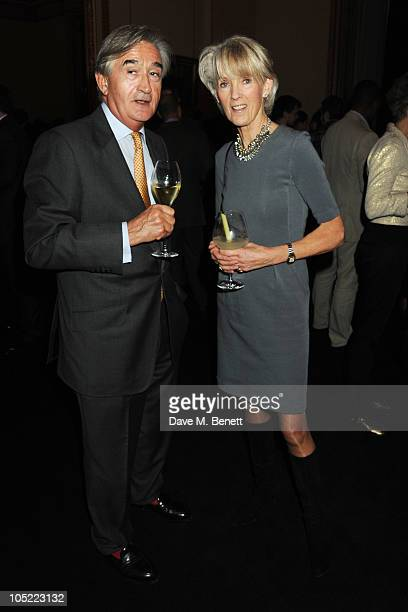 Joanna Trollope and guest attend the global launch of Vertu Constellation Quest at Lancaster House on October 12 2010 in London England
