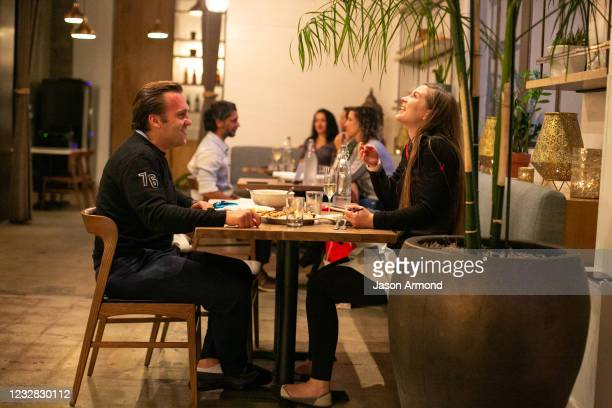 Joanne and Ian Gutwinski enjoy dinner at Cassia as the much loved restaurant re-opens its indoor dining and continues outdoor dining on Wednesday,...