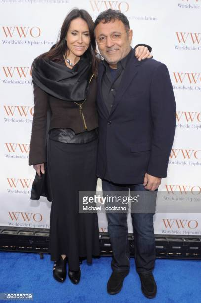 Joanne Blessinger and Designer Elie Tahari attend the Worldwide Orphans 15th Anniversary Benefit Gala at Cipriani Wall Street on November 13 2012 in...