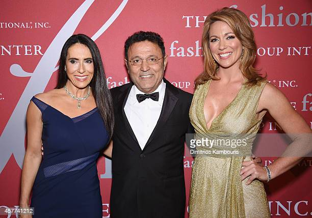 Joanne Blessinger Elie Tahari and Brooke Baldwin attend the 31st Annual FGI Night of Stars event at Cipriani Wall Street on October 23 2014 in New...
