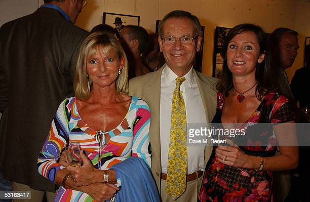 Joanne Bradford Lord Archer and Alex DouglasHome attend The Sixties Set An Inside View By Robin DouglasHome at the Air Gallery June 28 2005 in London...