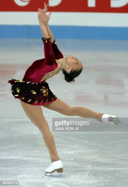 Joanne Carter of Australia performs during the ladies short program at the ISU Four Continents Figure Skating Championships 2005 in Gangneung 250...