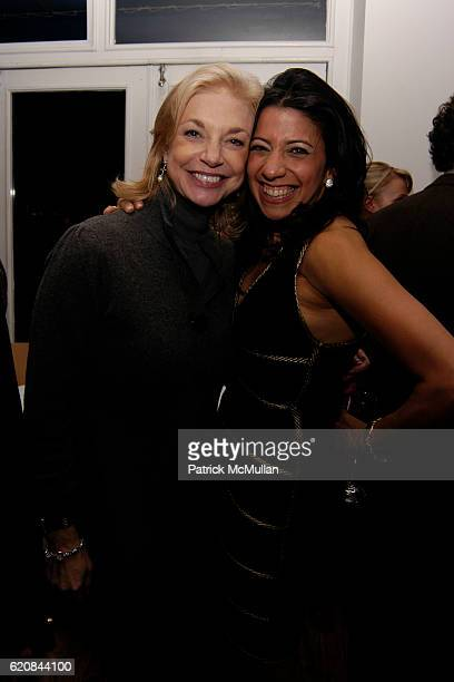 Joanne Cassullo and Lisa Anastos attend Whitney Biennial Artists Party at Trata Estiatoria on March 8 2008 in New York City