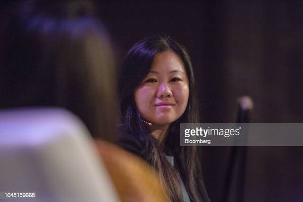 Joanne Chen partner at Foundation Capital listens during the GeekWire Summit in Seattle Washington US on Wednesday Oct 3 2018 The event brings...