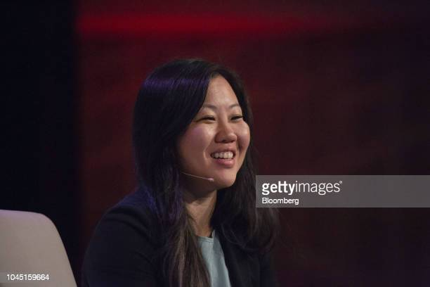 Joanne Chen partner at Foundation Capital smiles during the GeekWire Summit in Seattle Washington US on Wednesday Oct 3 2018 The event brings...