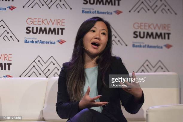 Joanne Chen partner at Foundation Capital speaks during the GeekWire Summit in Seattle Washington US on Wednesday Oct 3 2018 The event brings...
