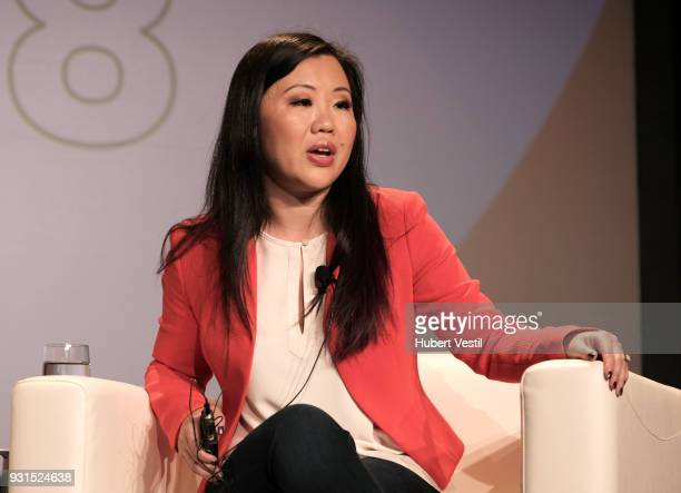 Joanne Chen speaks onstage at Democratizing AI for Individuals Organizations during SXSW at Austin Convention Center on March 13 2018 in Austin Texas