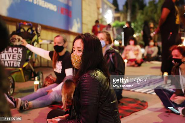 Joanne Chew attends a candlelight vigil for Andrew Brown, Ma'khia Bryant and Daunte Wright at The Laugh Factory on April 23, 2021 in West Hollywood,...