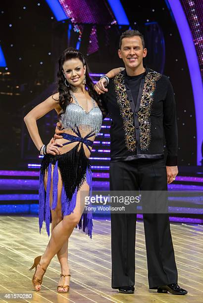 Joanne Clifton and Scott Mills attends a photocall to launch the Strictly Come Dancing Live Tour 2015 at Birmingham Barclaycard Arena on January 15...
