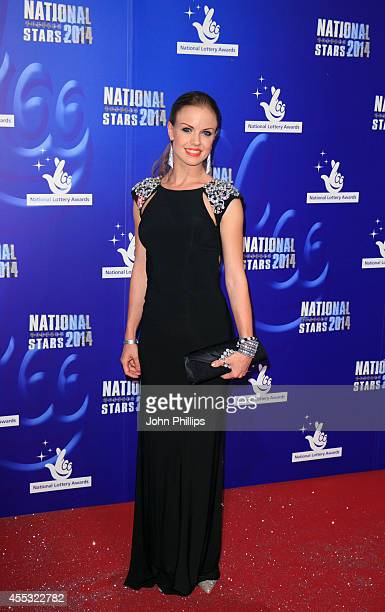 Joanne Clifton attends the National Lottery Awards at Pinewood Studios on September 12 2014 in Iver Heath England