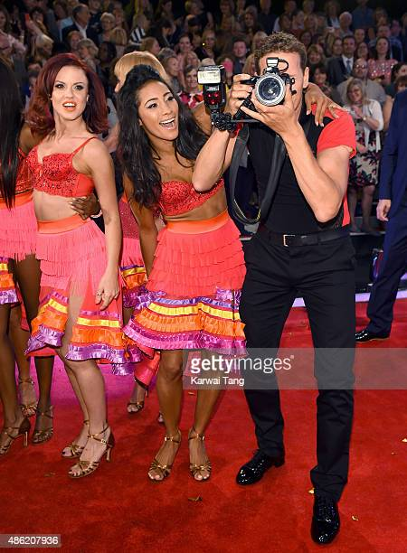 Joanne Clifton Karen Clifton and Brendan Cole attend the red carpet launch of 'Strictly Come Dancing 2015' at Elstree Studios on September 1 2015 in...